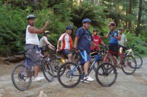 Bicycles Create Change - First timers in the Whakarewarewa Forest