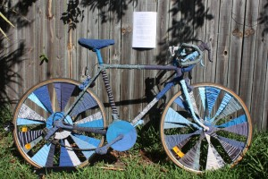 Art bike: CONS U ME BLUES by Nina Ginsberg