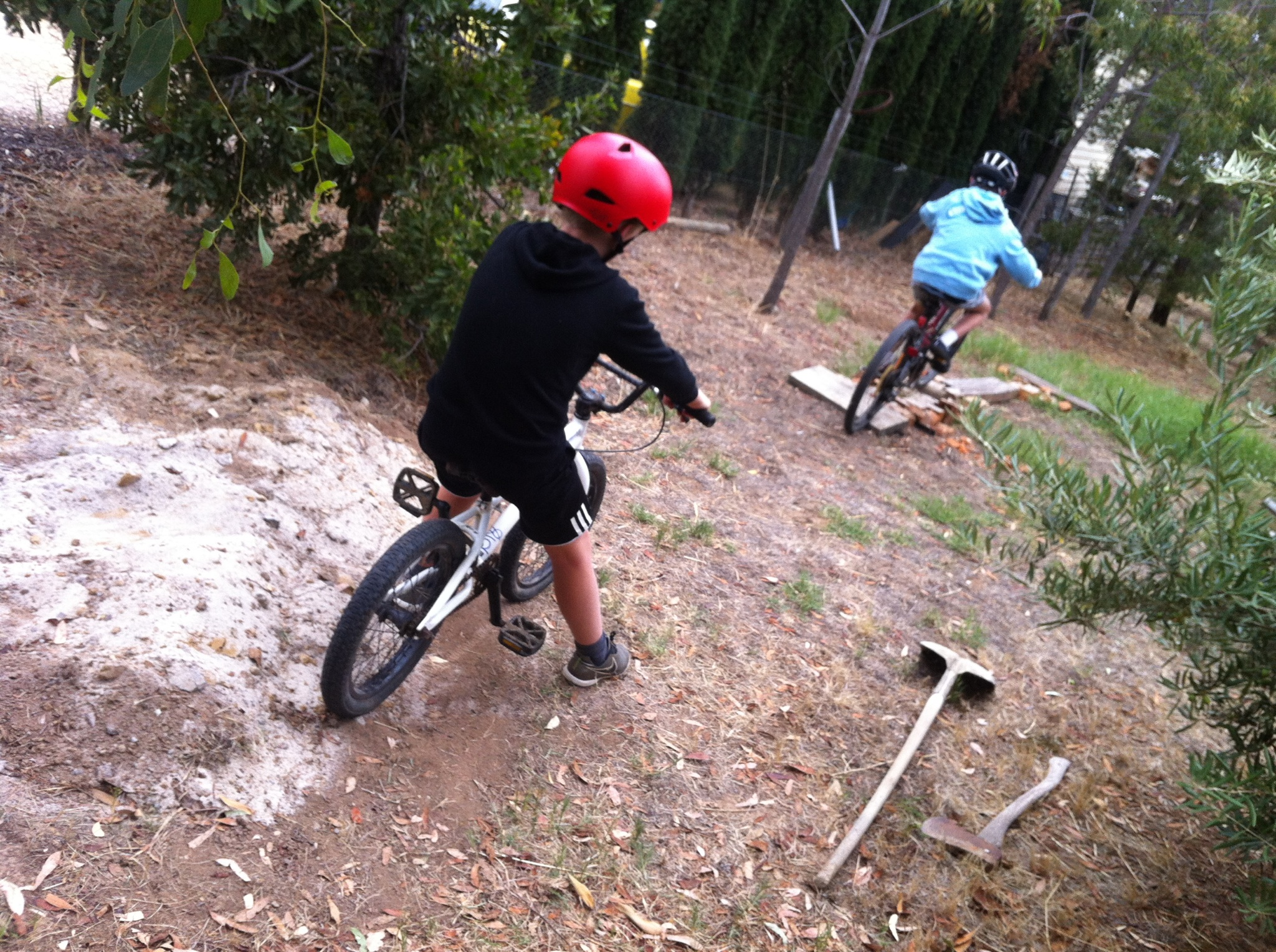 boys backyard mtb track