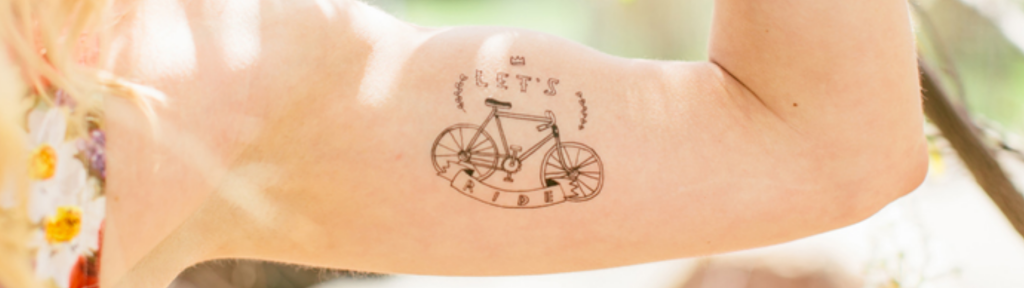 Bicycle Temporary Tatoos