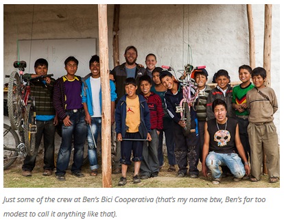 8 Bicycles Create Change Ben's Bici Cooperativa (Peru)
