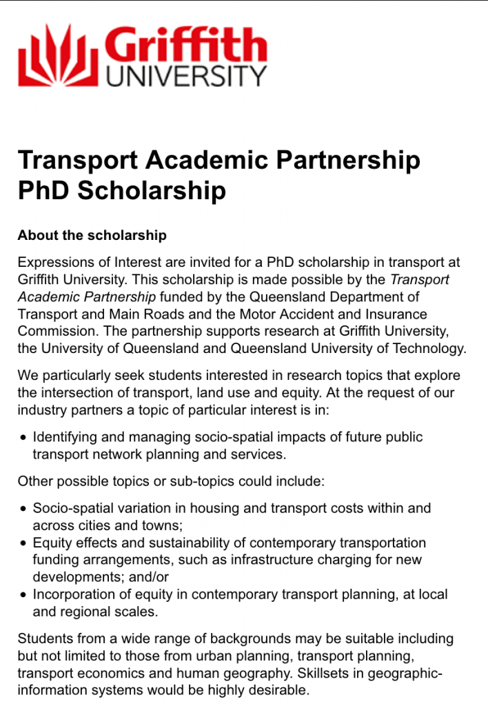 PhD in Transport Opportunity - Bicycles Create Change.com