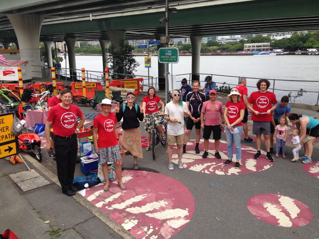 Bike Picnic - Casino Plaza Protest. Bicycles Create
