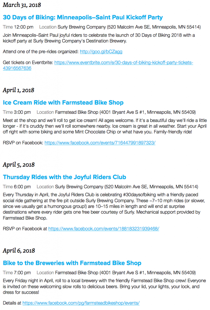30 days of Biking - 1 week to go! Bicycles Create Change.com 26th March 2018